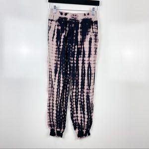Rewash Pink/Black Tie Dye Joggers Pants Sz S